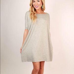Short Sleeve Piko Tunic Dress
